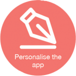 Personalise the app to match your wedding theme icon