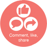 Social - comment, like, share icon