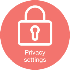 Privacy settings icon